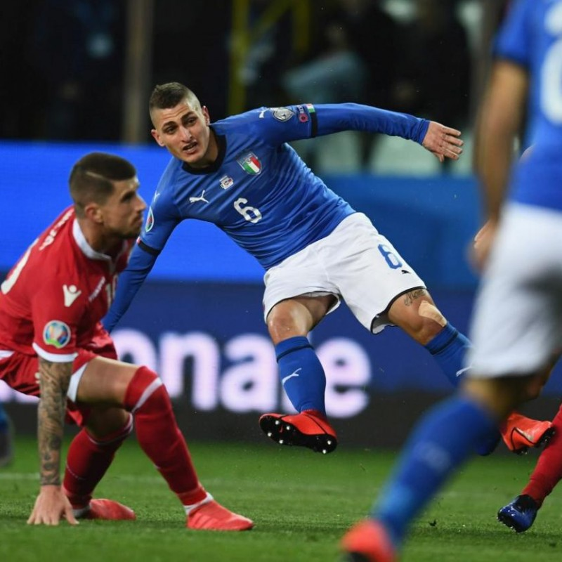 Verratti's Match Shirt, Italy-Liechtenstein 2019