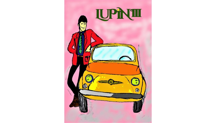 """""""Lupin III"""" Original Limited Edition Board by J.E."""
