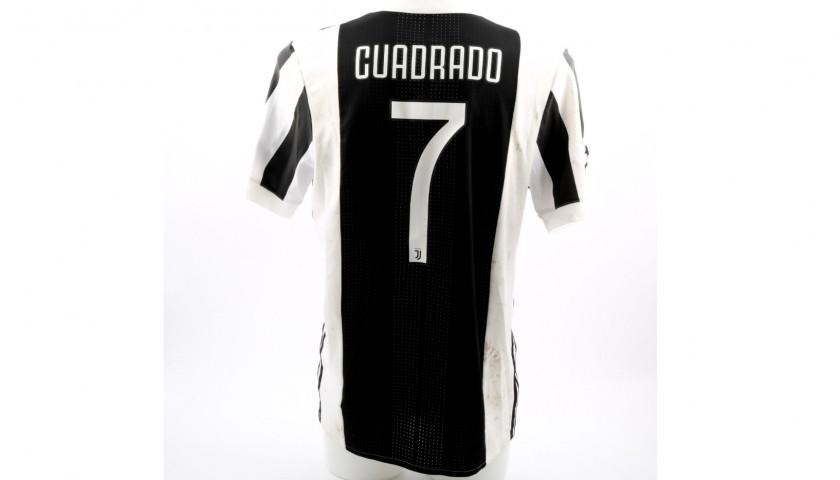 new concept 682be 5e963 Cuadrado's Unwashed Match-Worn Juventus Shirt - CharityStars