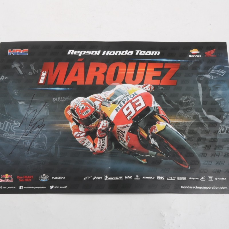 Repsol Honda Team Poster Signed by Marc Marquez