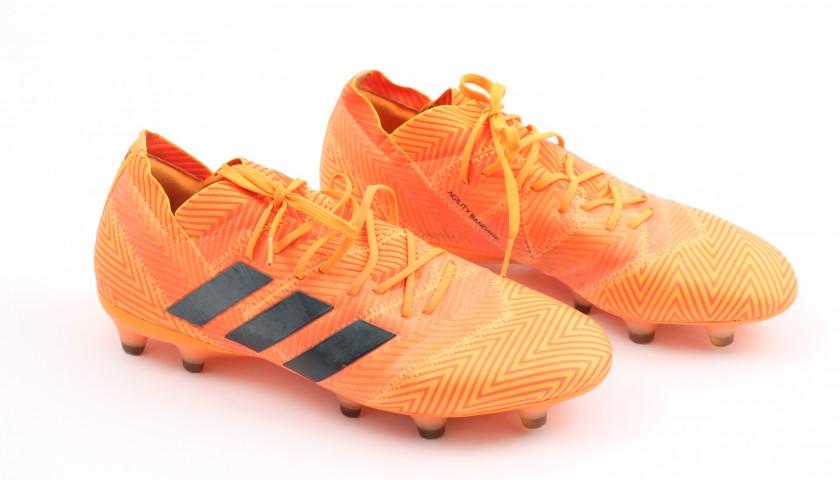 Caprari's Adidas Nemeziz Worn and Signed Boots