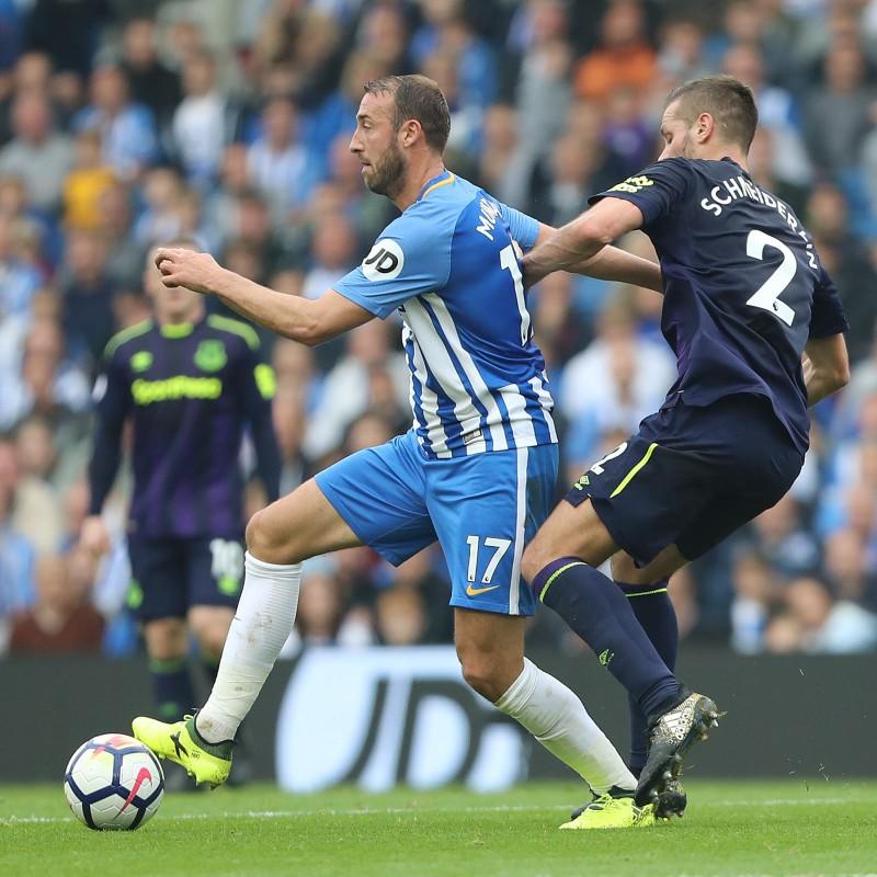 Framed Brighton & Hove Albion Signed Shirt, 2017/18 Season