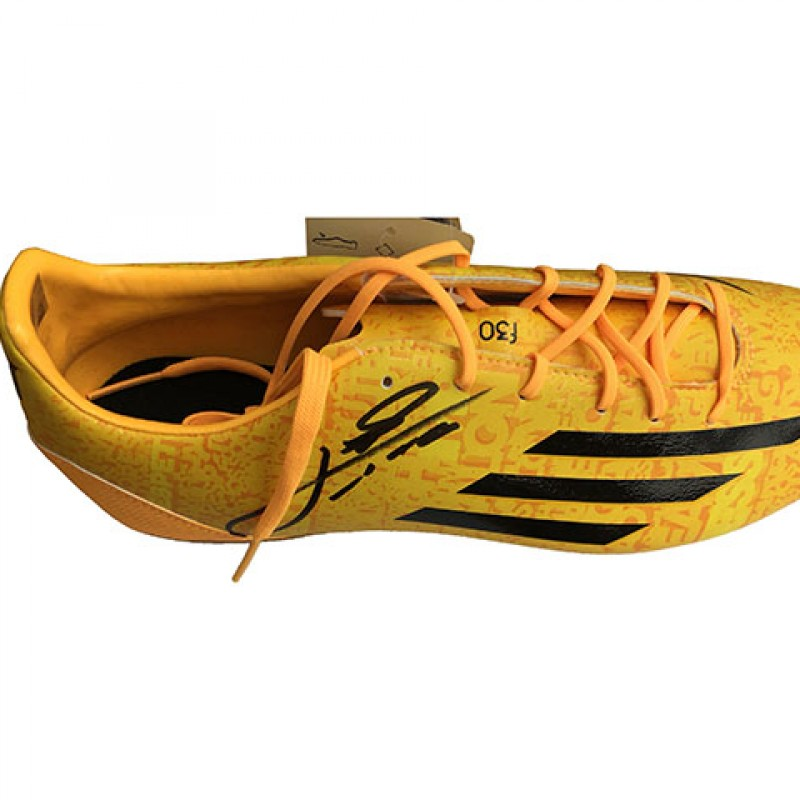 Lionel Messi Signed Right Adidas Football Boot