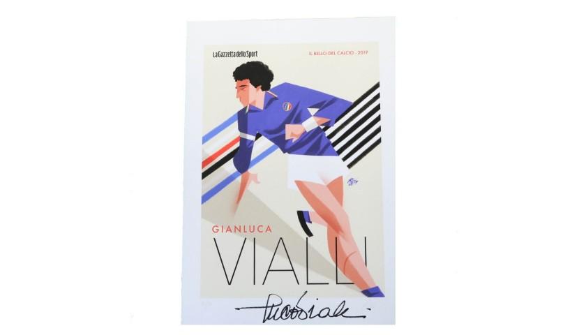 Gianluca Vialli Signed Print by Guasco