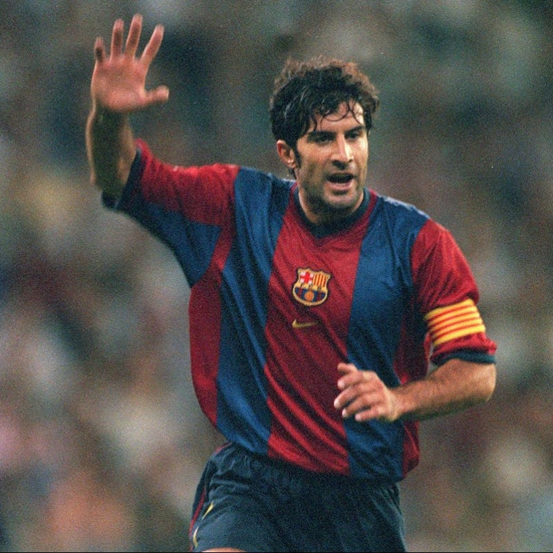 Figo's Official Barcelona Signed Shirt, 1998/99