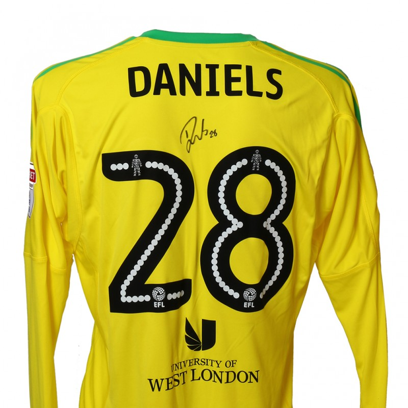 Official Match-Issued Poppy Shirt Signed by Brentford FC's Luke Daniels