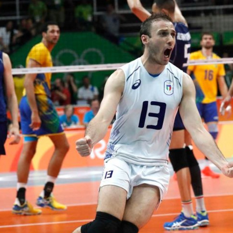 Official Italvolley shirt, worn and signed by Massimo Colaci
