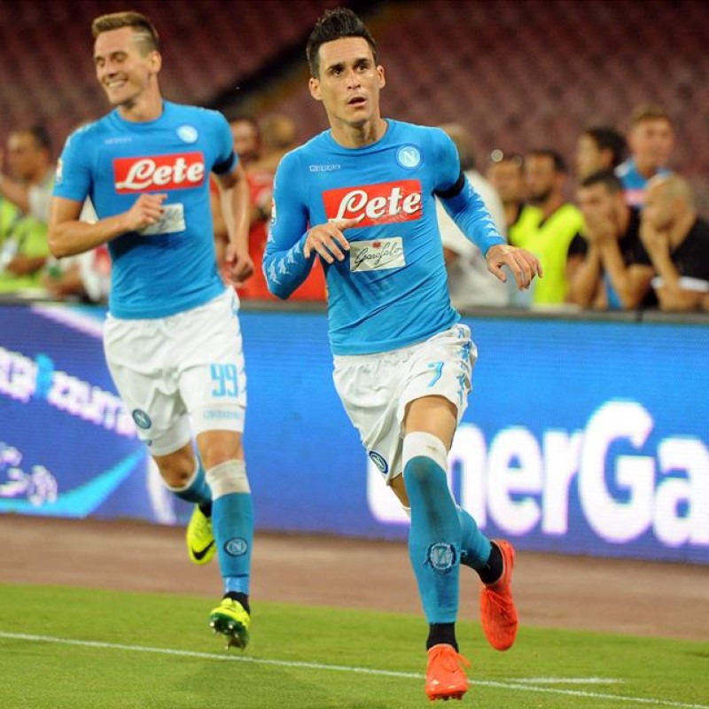 Callejon's Napoli Worn and Signed Shirt, 2016/17