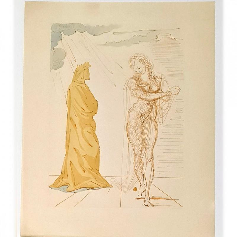 Original Board by Salvador Dalì - Divine Comedy Inferno Canto II
