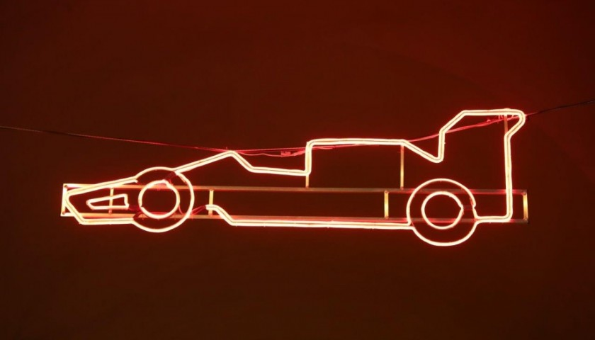 F1 Car Silhouette - Streetlight by Ayrton Senna