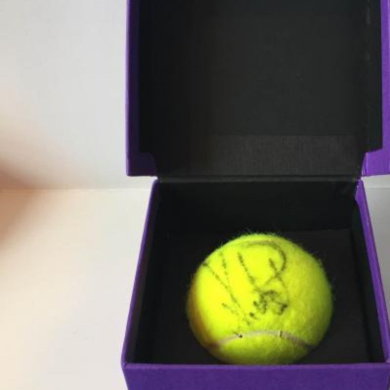 Tennis Ball used in the 2014 Wimbledon Women's Final, signed by Petra Kvitová