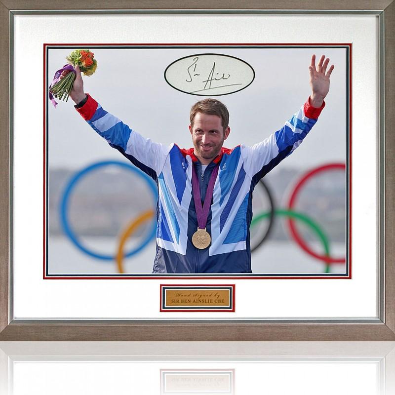 Sir Ben Ainslie Signed Olympics World Champion Presentation
