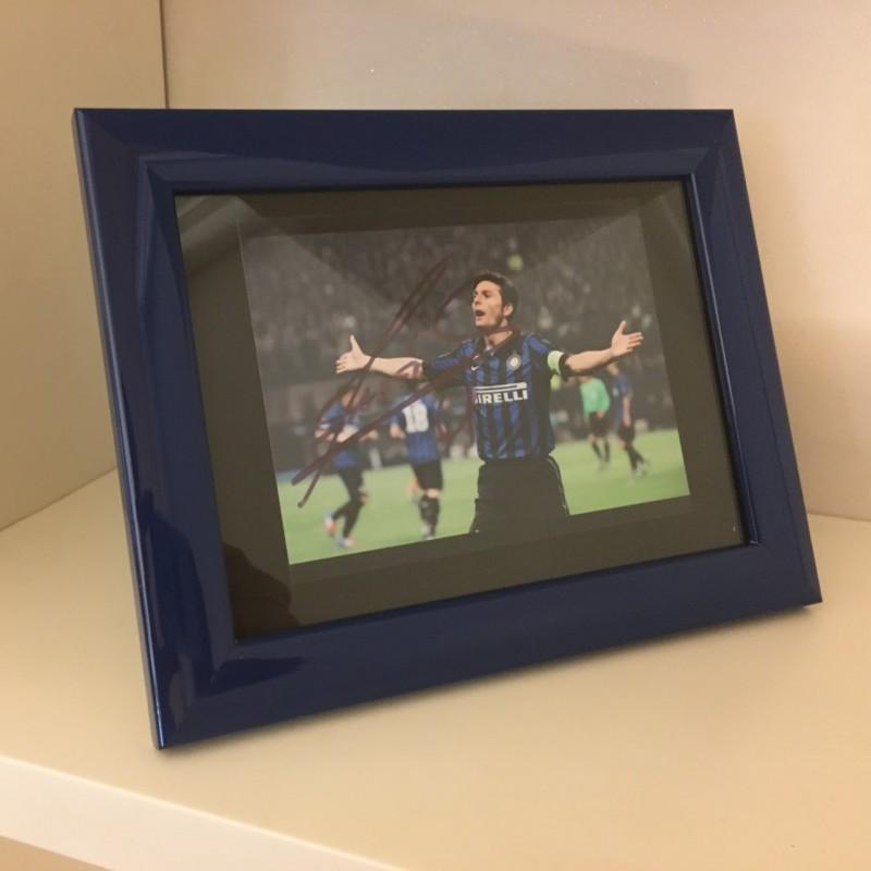 Javier Zanetti Signed Photograph