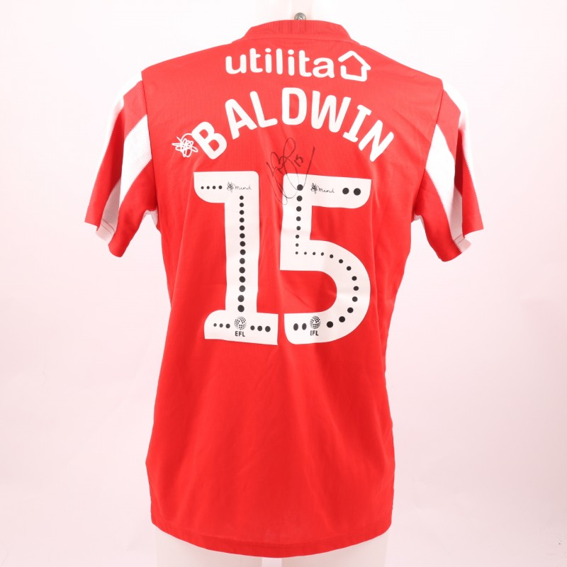 Baldwin's Sunderland AFC Worn and Signed Poppy Shirt