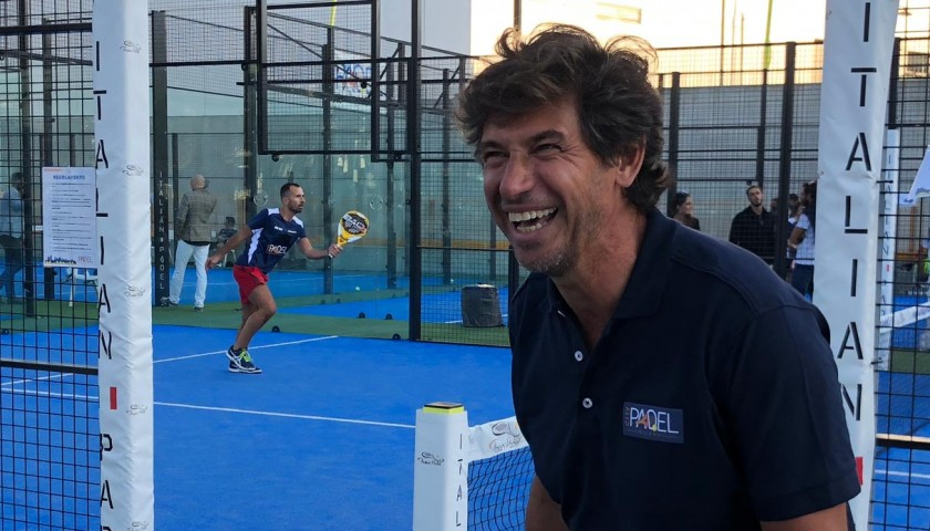 Challenge Demetrio Albertini and Pierluigi Casiraghi to a Game of Paddle Tennis.