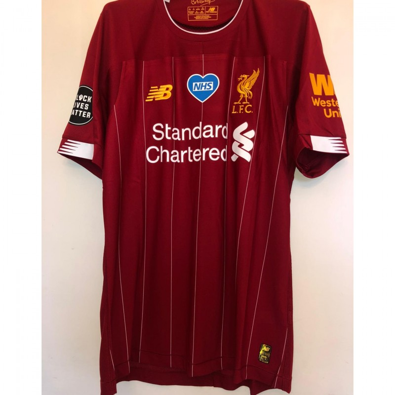 "Henderson's Liverpool Match Shirt, 2019/20 - ""Black Lives Matter"""
