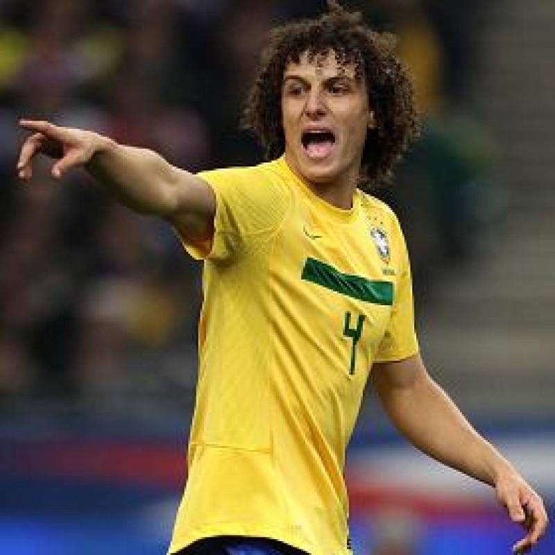 David Luiz's Brazil Match Shirt, Copa America 2011