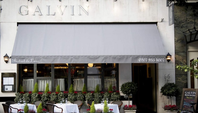 Galvin's Spitalfields Michelin-Starred 3-Course Meal with Bubbles for 2