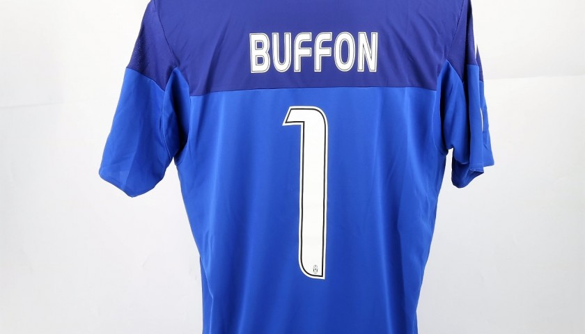new style d2b9e 4d2d9 Buffon Match-Issued/Worn Shirt, UCL 2015/16 - CharityStars