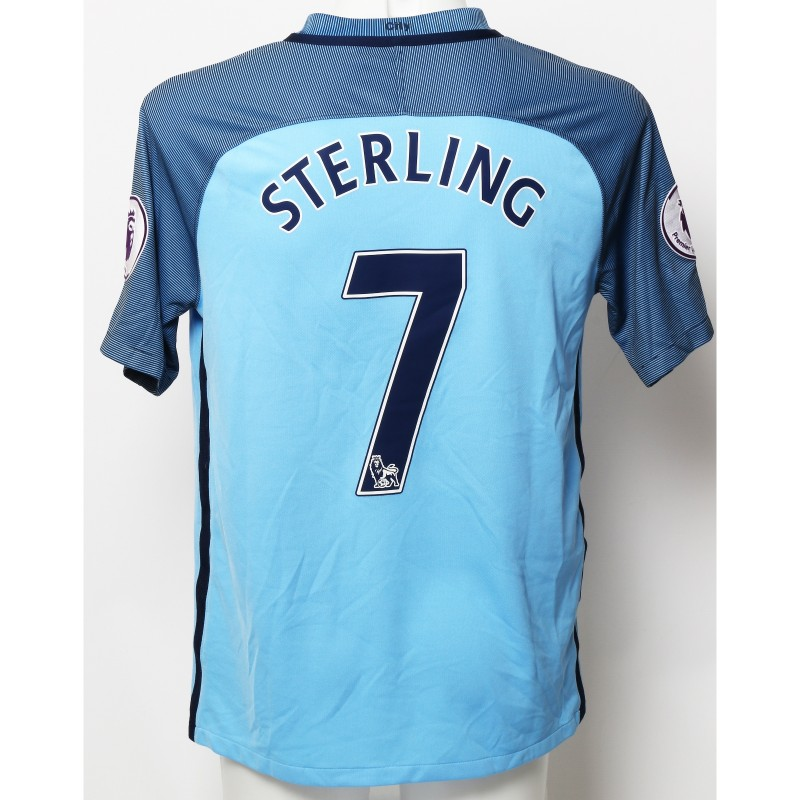 Raheem Sterling Manchester City FC Worn Shirt and Shorts from Season 2016|17