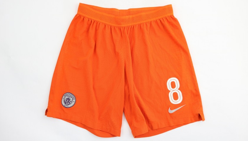Gundogan's Manchester City Match Shorts, Champions League 2018/19