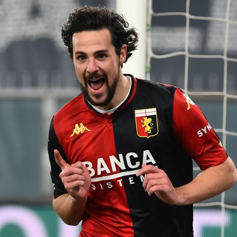 Destro's Genoa Match Signed Shirt, 2020/21