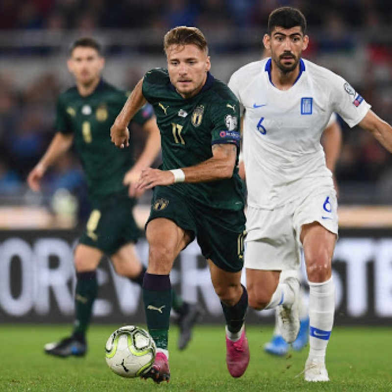Immobile's Match Shirt, Italy-Greece 2019