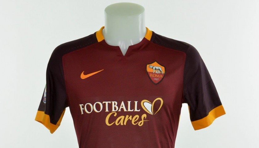 reputable site 5555a 5696a Authenticated Salah shirt issued for Frosinone 0-2 Roma - CharityStars