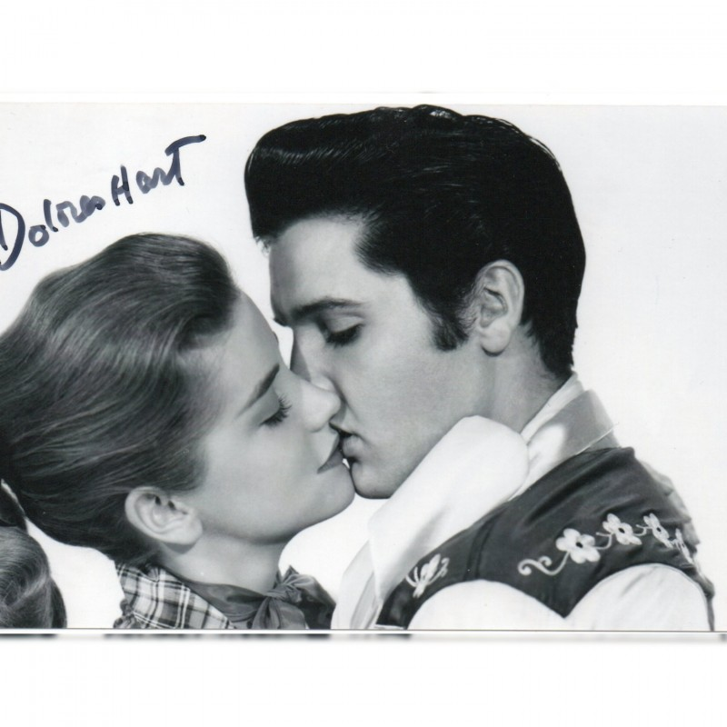Elvis Presley and Dolores Hart - Photograph Signed by the Actress