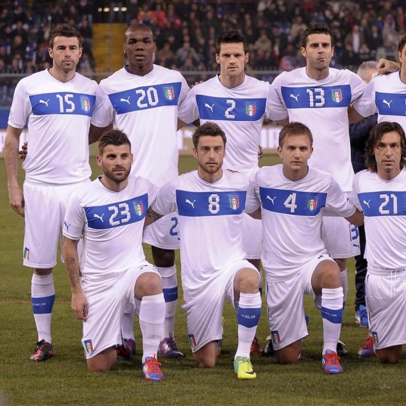 Barzagli's Signed Match Shirt, Italy-USA 2012