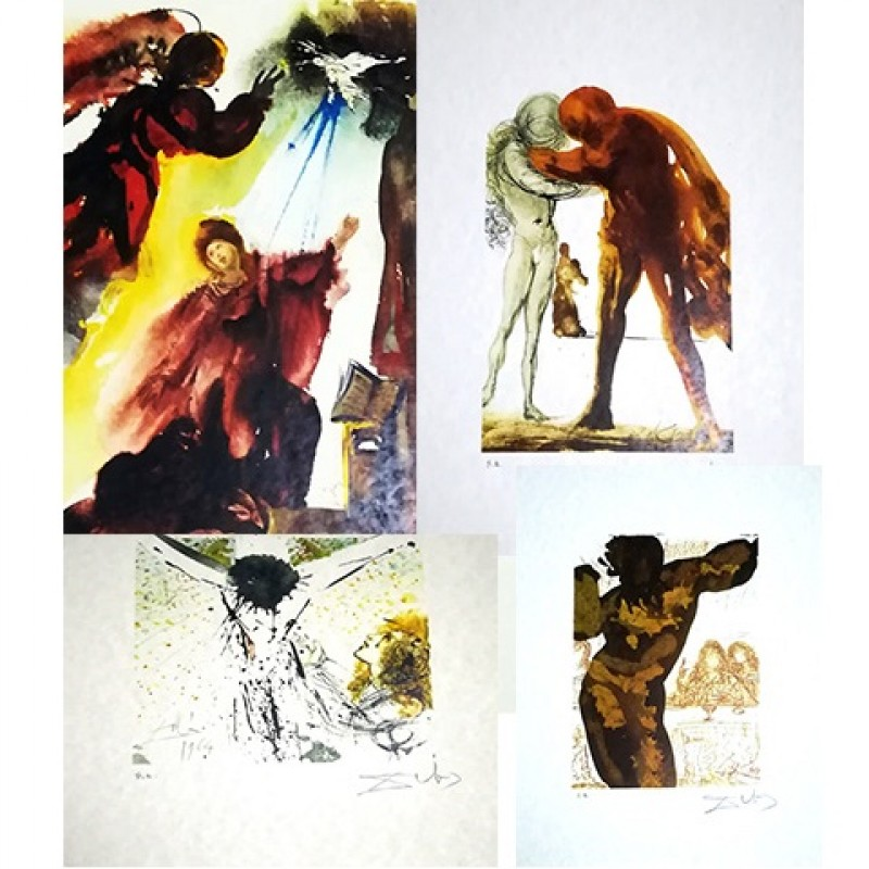 Six Lithographs with Original Folder by Salvador Dali