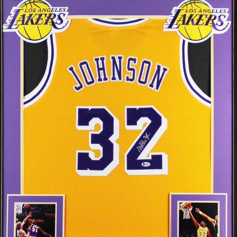 Magic Johnson Signed Framed Jersey