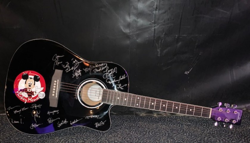Reunion Mouseketeer Autographed Guitar