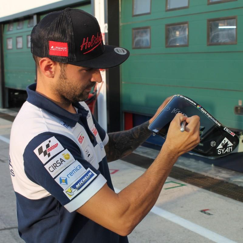 Héctor Barberá's Autographed Helmet Visor