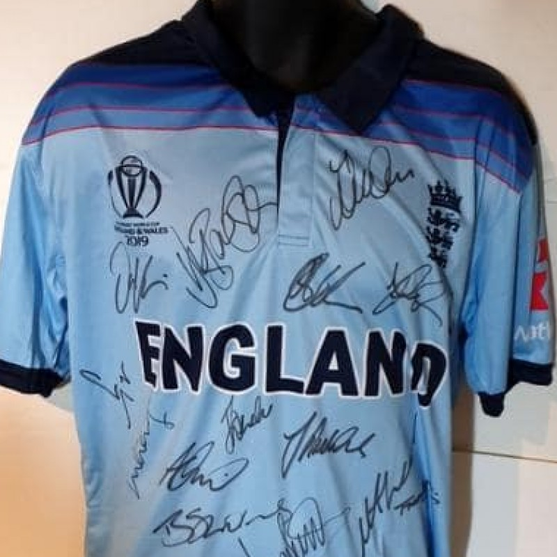England 2019 Cricket World Cup Squad Signed Replica Shirt