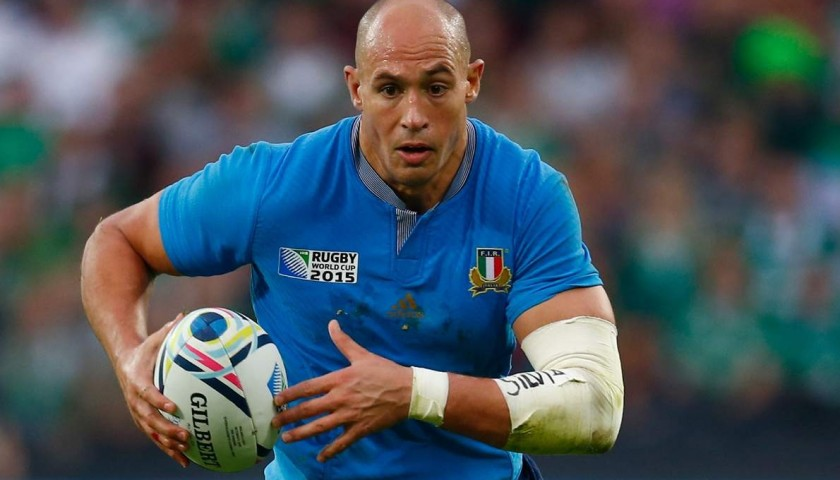 Rugby World Cup Ball Signed by Sergio Parisse