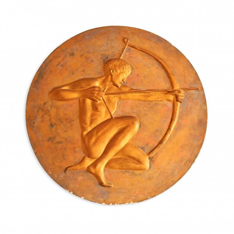 """Plaster Disk of Archer from """"Cinecittà"""", Anon."""