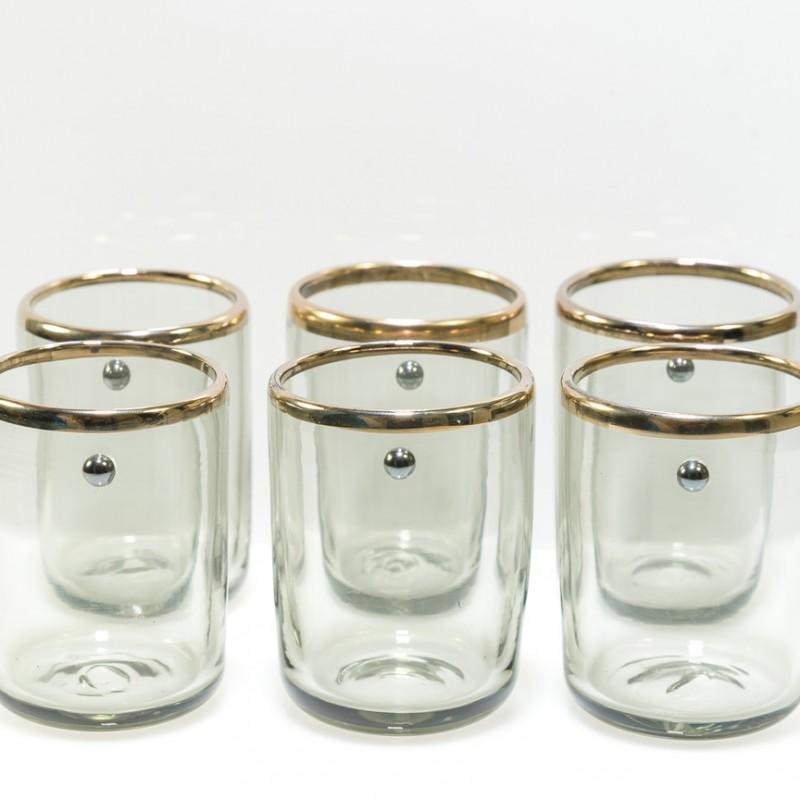 Set di 6 bicchierini Jai Cristallo Antico di Giberto Venezia