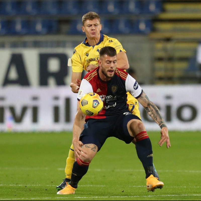 Dawidowicz's Worn Shirt, Cagliari-Hellas Verona - Coppa Italia 2020