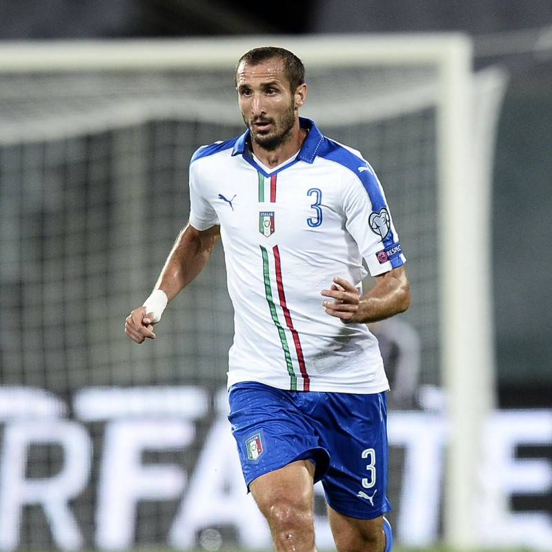 Chiellini's Official Italy Signed Shirt, 2016