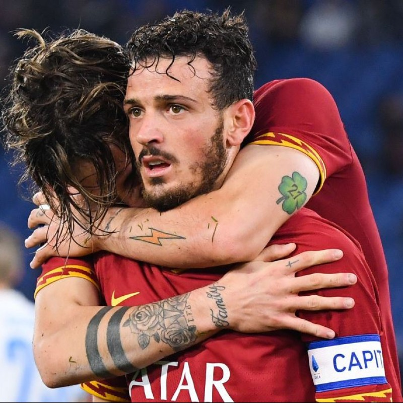 Florenzi's Worn and Signed Shirt, Roma-SPAL 2019