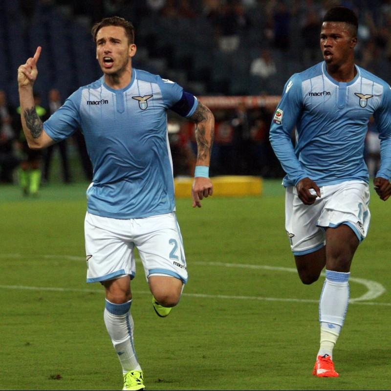 Biglia's Lazio Cleats, Worn Serie A 2015/2016