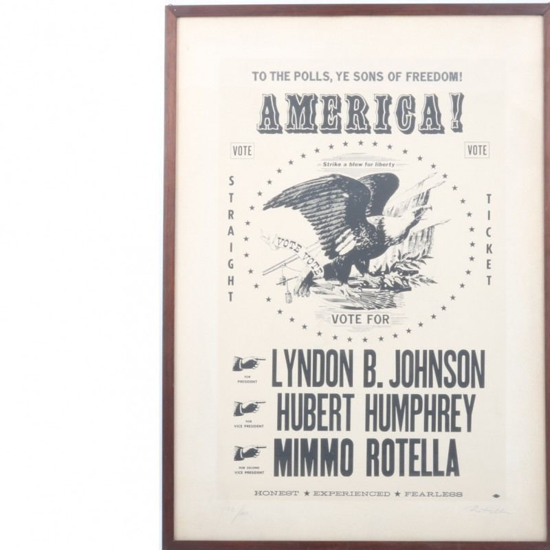 "Mimmo Rotella ""America!"" multiplied art 22/100"
