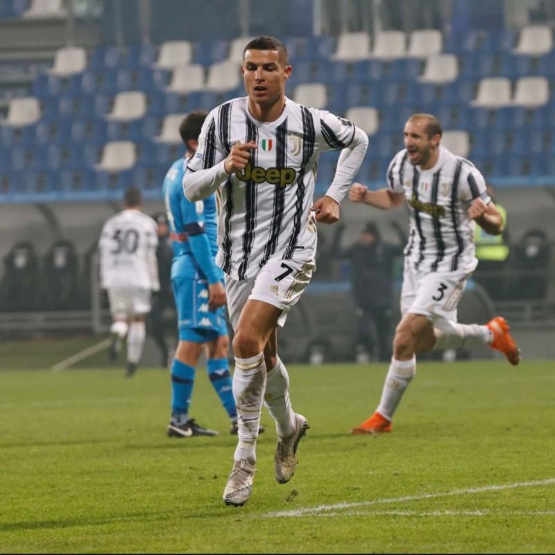 Ronaldo's Authentic Juventus Signed Shirt, Italian Super Cup 2021