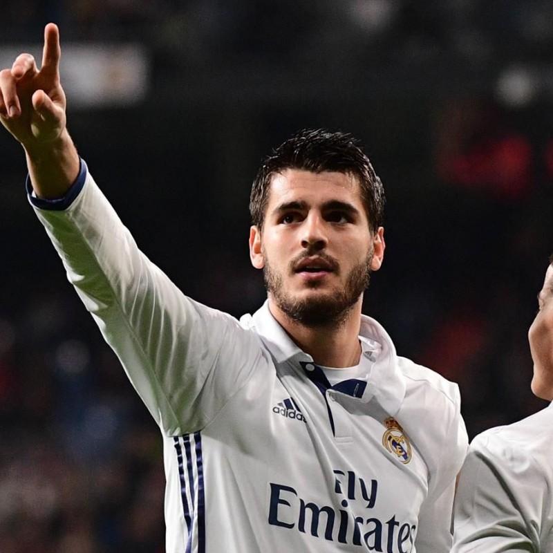 Morata Real Madrid Match Issued/Worn Shirt, Liga 2016/17 - Signed