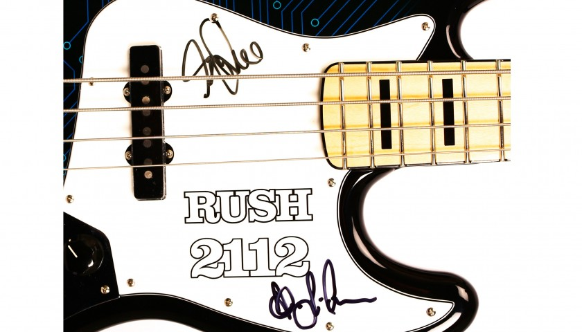 Signed Bass Guitar by Rush Geddy Lee and Alex Lifeson