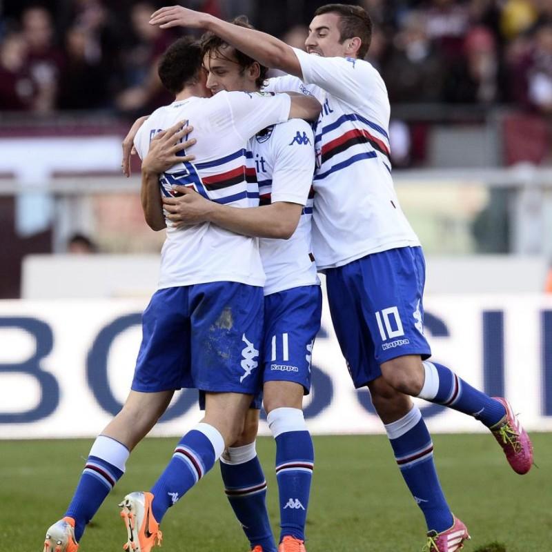 Maglia Gabbiadini indossata Torino-Sampdoria 2014 - UNWASHED