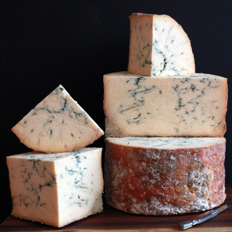 A Wheel of Award Winning Blue Stilton and Bottle of Hattingley Valley English Sparkling Wine
