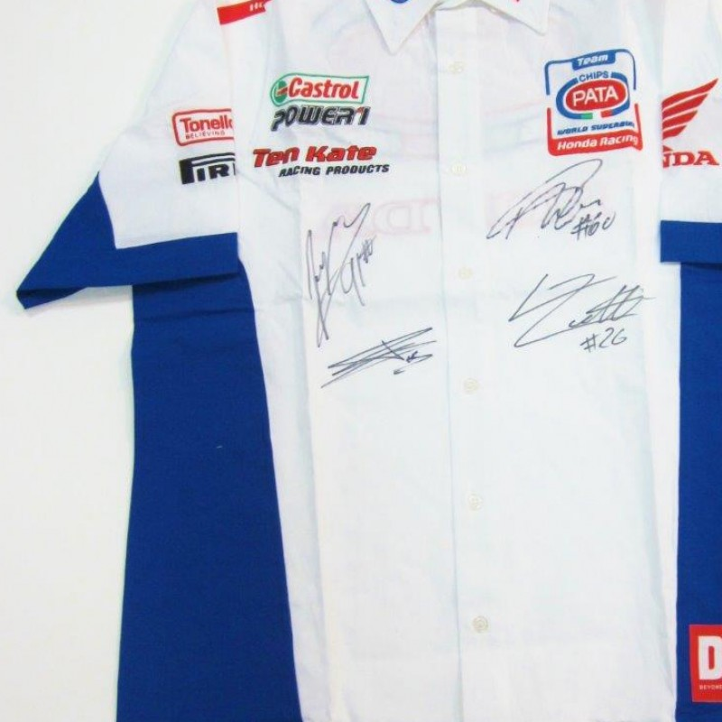 Team Pata Honda SBK Shirt signed by the riders