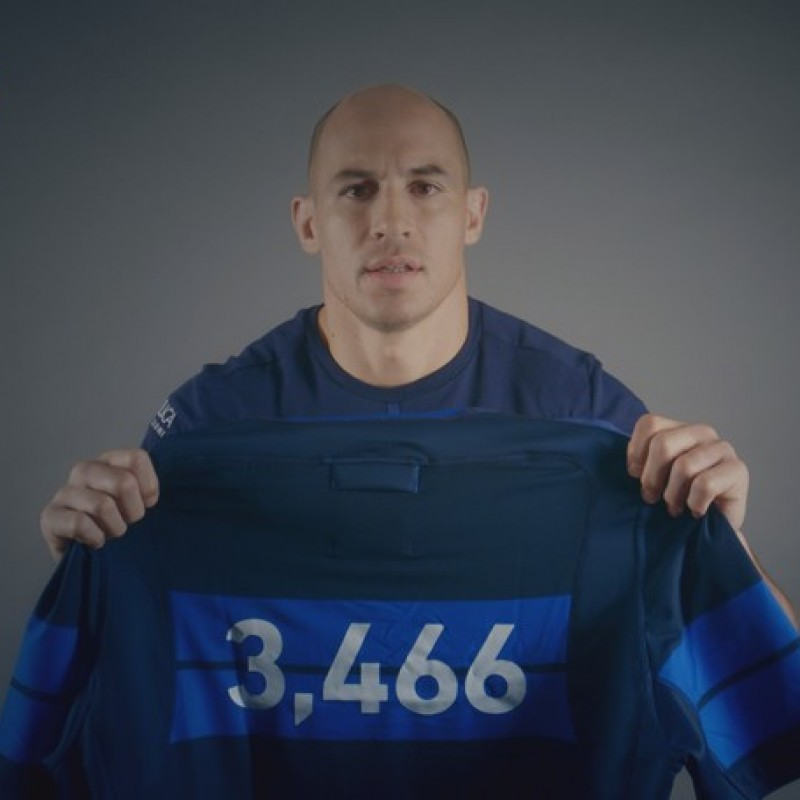Special Sergio Parisse FIR Rugby Shirt - Signed by the Players